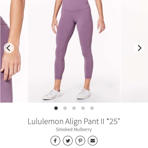 "Lululemon Align 25"" smoked mulberry"